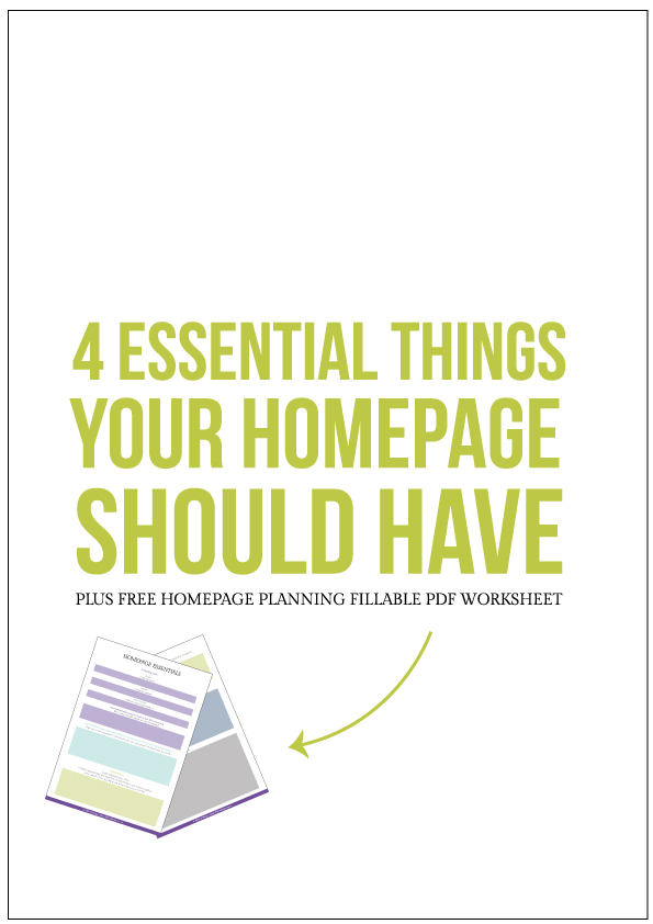 Four Essential Things Your Homepage Should Have