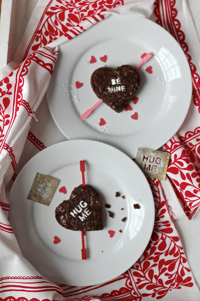 Valentine conversation hearts just got a lot more tasty! Turn brownies into special messages for Valentine's Day.