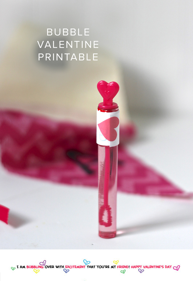 Easy and cute way to personalize bubbles for classroom Valentines! Print now and assemble in five minutes.