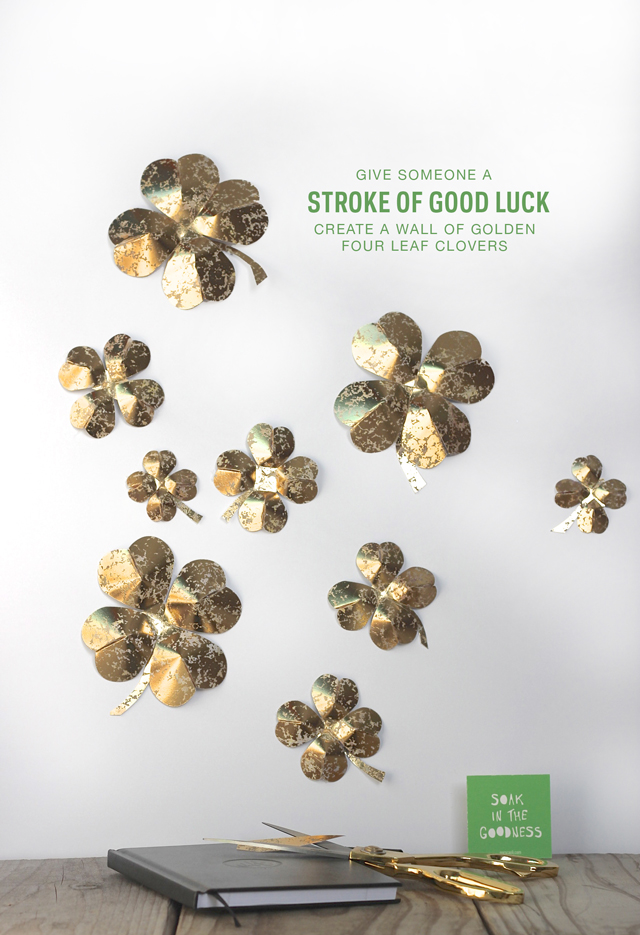 Create three-dimensional four leaf clovers! An easy tutorial to give anyone a stroke of good luck.