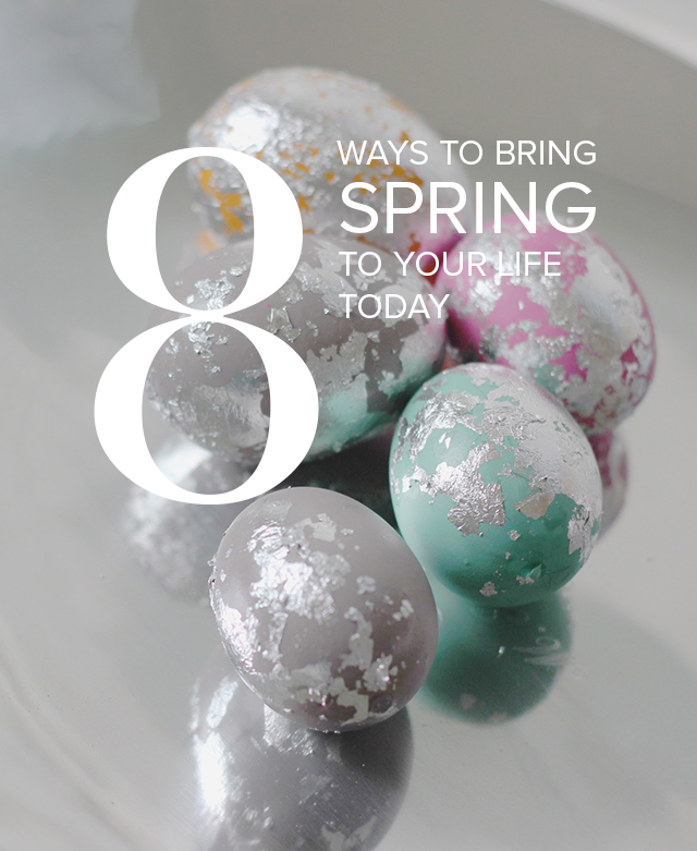 Spring is here, but it might not look or feel like it where you are. 8 easy ways to bring spring into your home today!