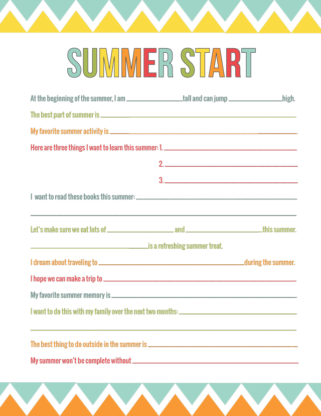 Use this free printable to find out just what your kids WANT to do this summer. A great tool for a happy summer for all.