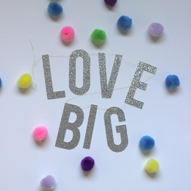 We're only here once so let's love big! Boss babe banner by  The Bannerie .