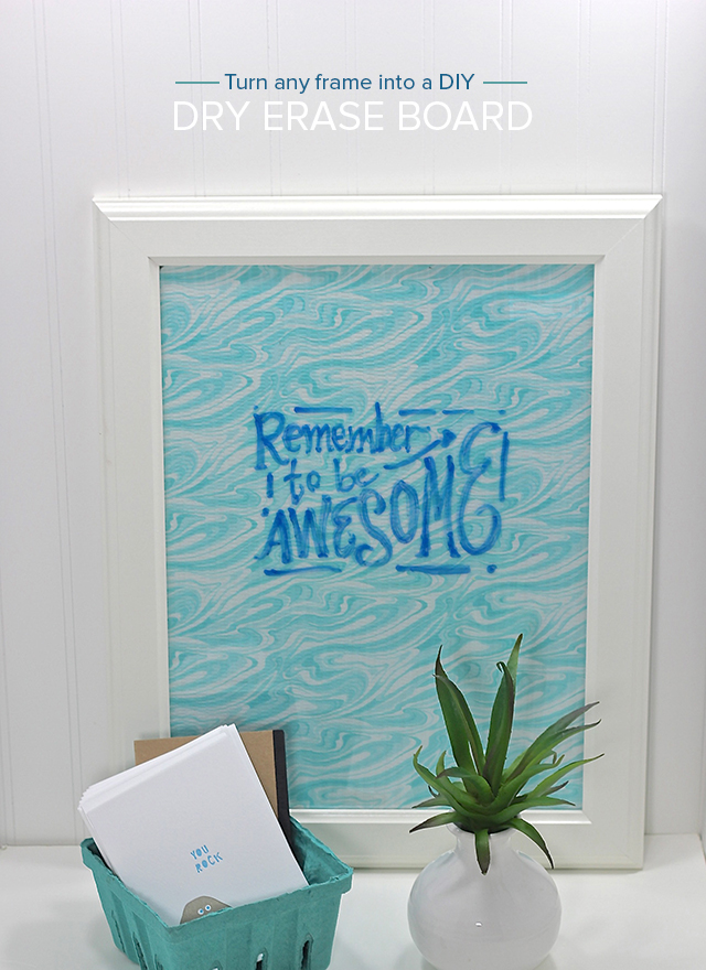 Looking for an easy, quick gift? Turn any large frame into a patterned dry erase board. Simple how-to on Pars Caeli!