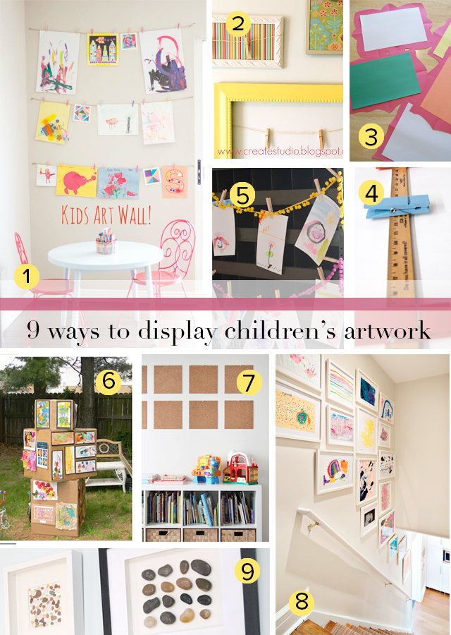 The best ways to decorate and to enjoy children's artwork without letting it overtake your home!