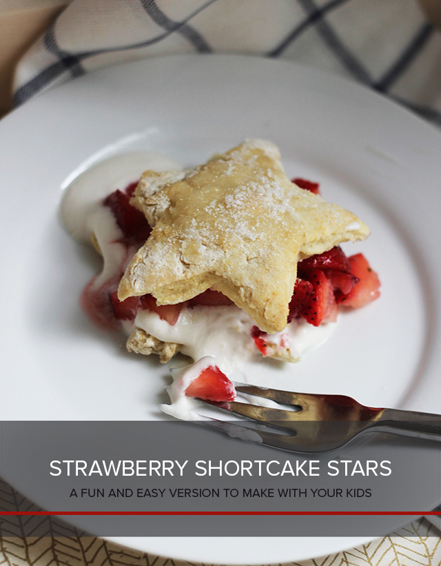 Strawberry Shortcake Stars are a treat perfect for July 4th or any star-studded celebration, like the end of great day!