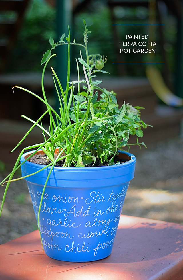 Take a great recipe to the next level! Plant a pot full of the ingredients and add the ingredient list, handwritten on the pot. A fabulous teacher present, too!