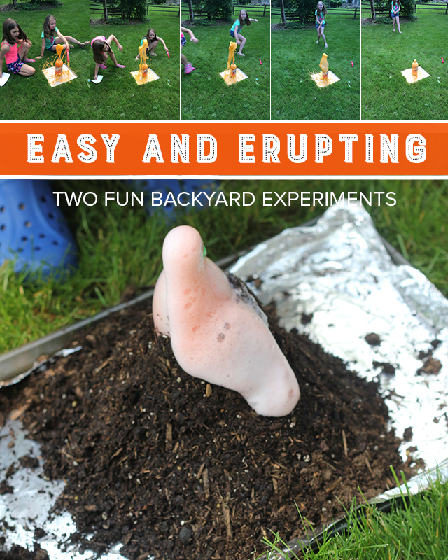 Make these two simple exploding experiments for some gooey, summer fun!