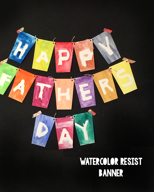 The grand reveal of a resist technique make them a lot of fun for kid creations. Try this process to create a letter banner from washi tape and watercolors.