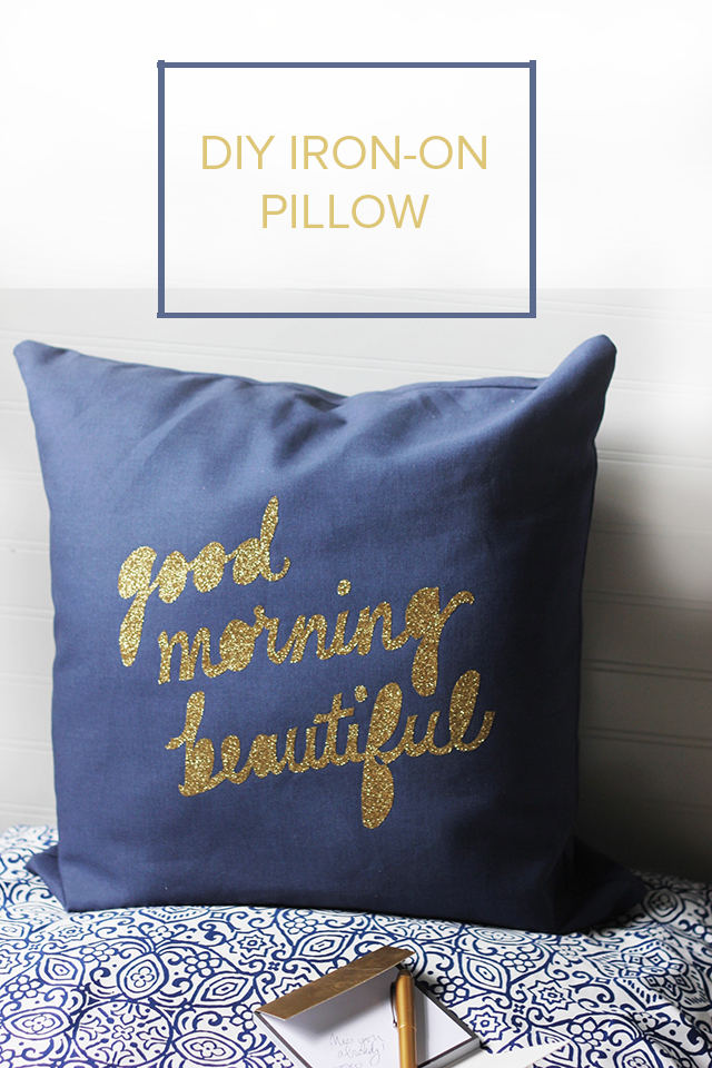 Make a pillow even cuter with an iron-on message! This quick, easy process is a fun way to personalize.
