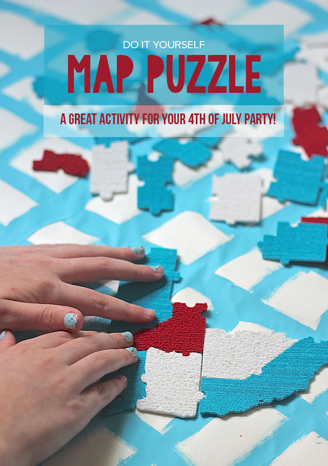 Get the whole crowd involved in this fun foam map puzzle that you can create! Bring the family together as you build our nation. Pinning this for 4th of July parties!