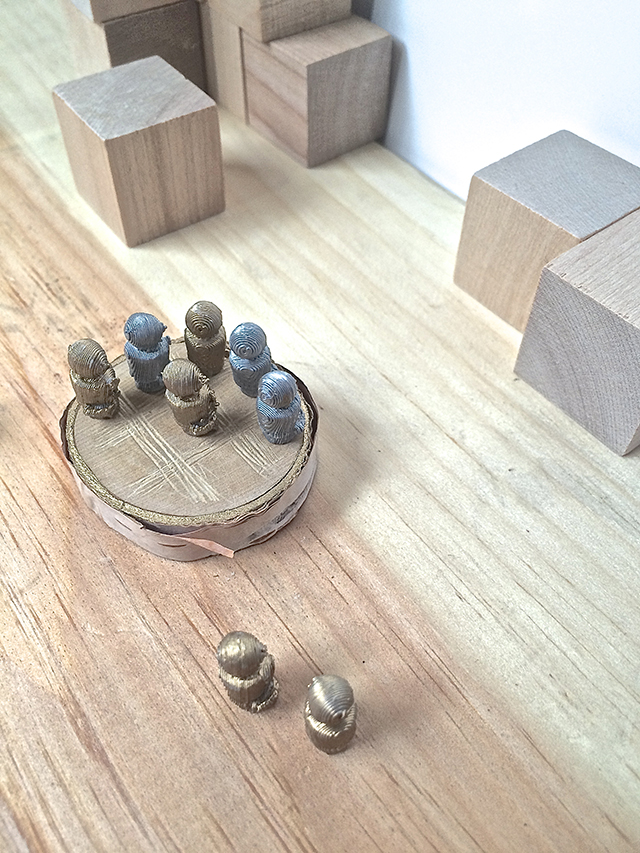 These miniatures make a fun, new take on the traditional tic-tac-toe game. Put them in a tiny giftbox, and you're set for any restaurant wait.