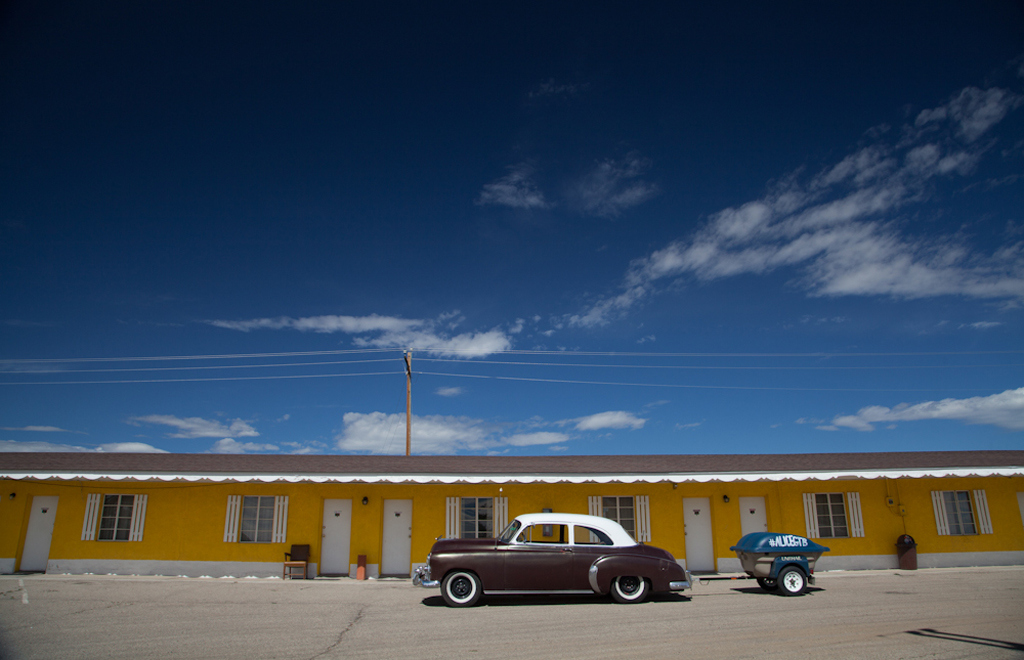 We stayed in a nice old motel in Walensburg, CO. Jim Leggett, Driving