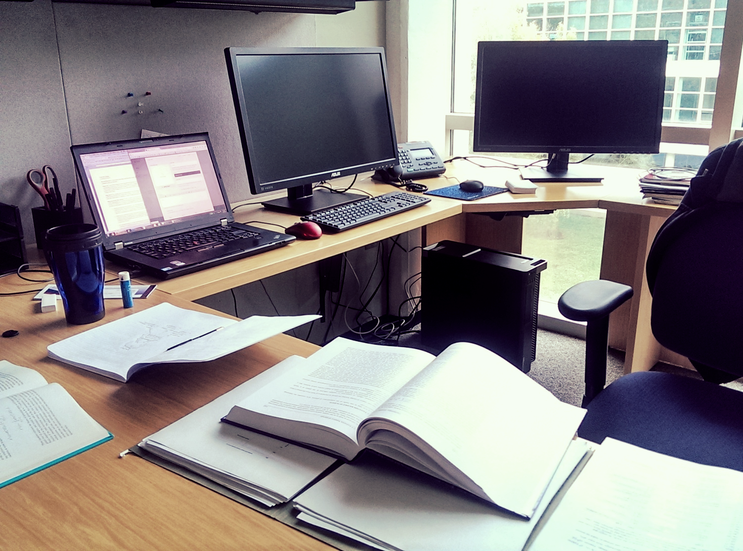 My desk is already a mess.