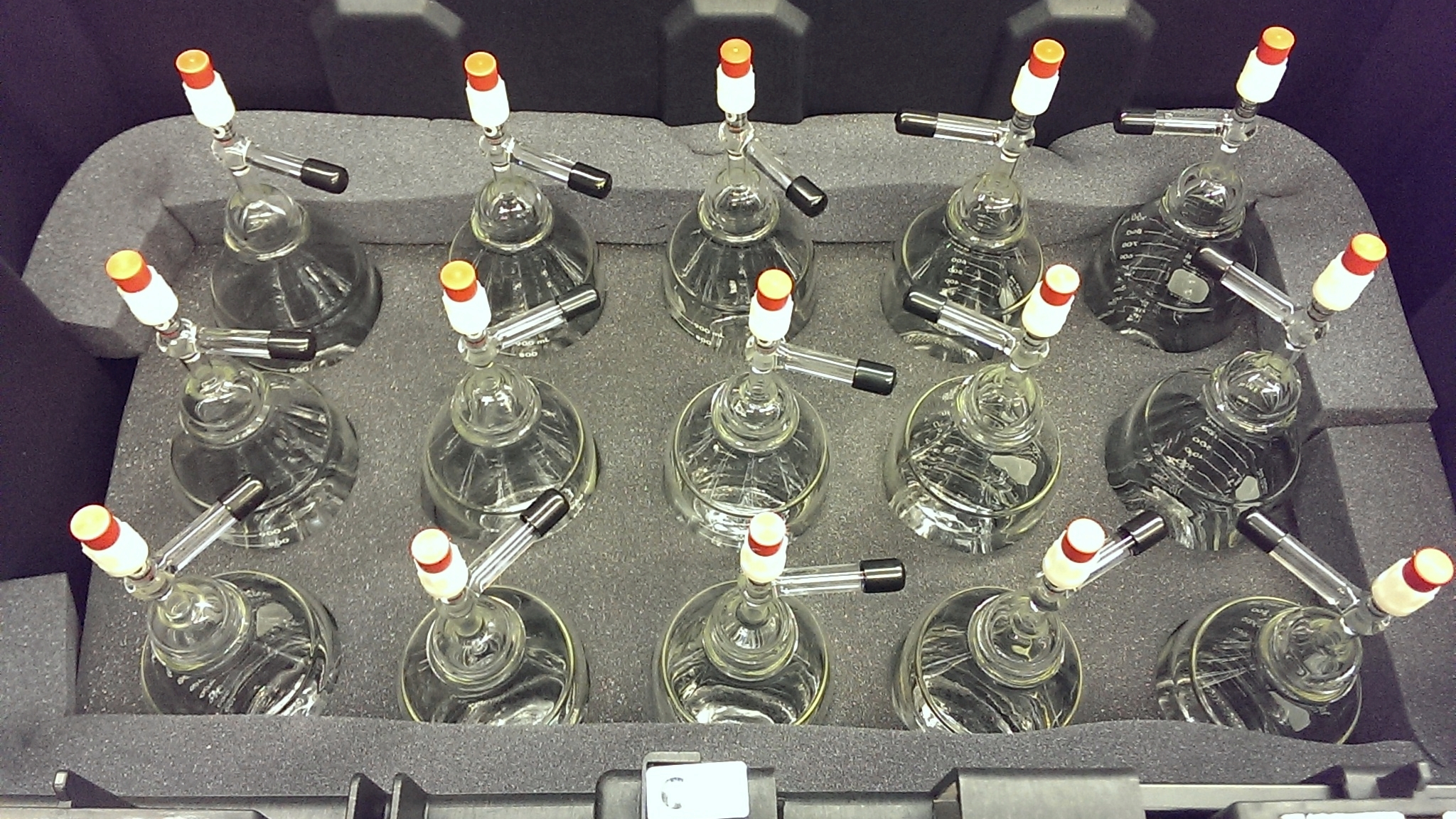 Bottles packed and ready to go to the field!