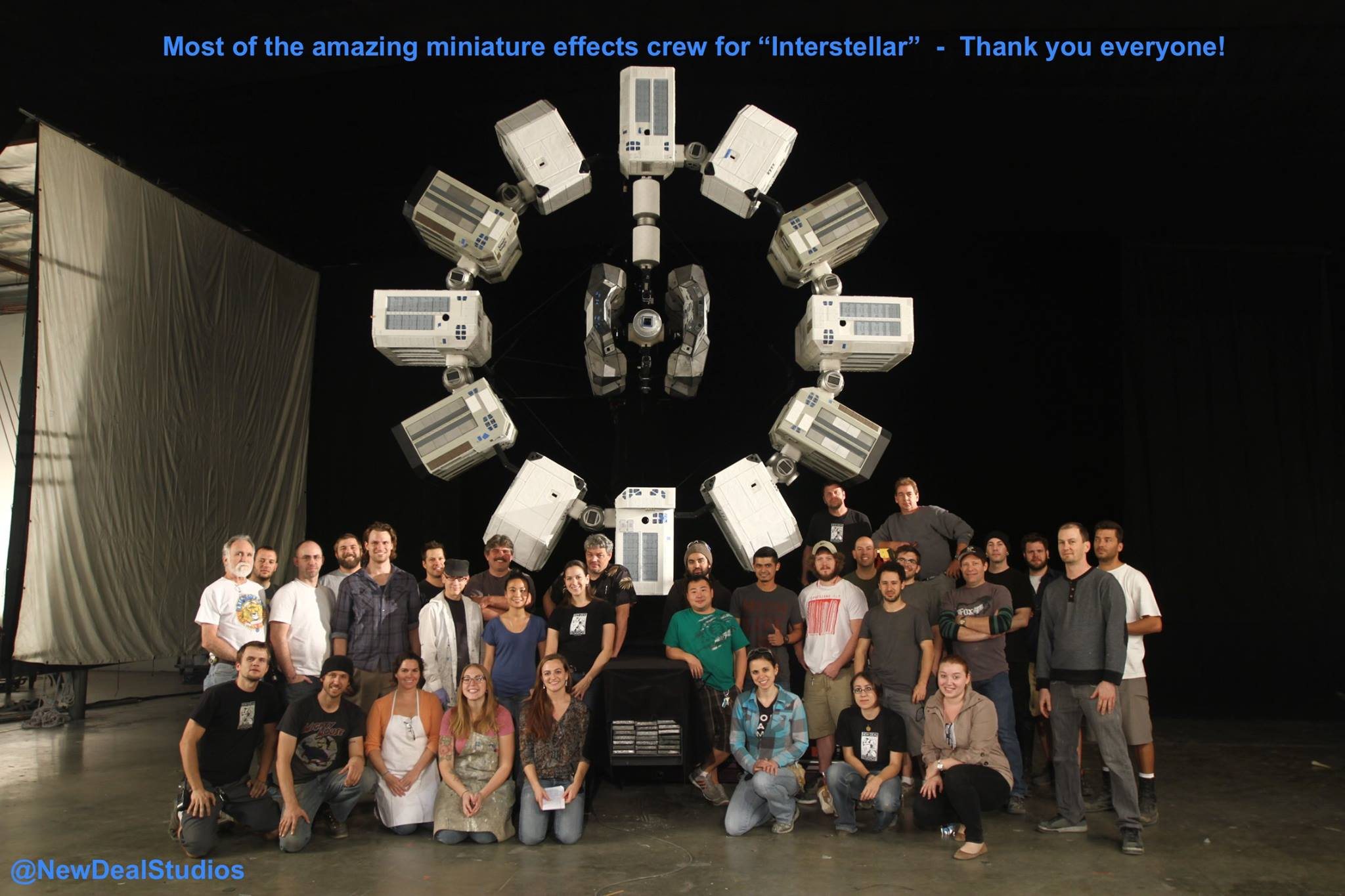 The amazing crew who contributed their creativity, heart and soul into the miniatures for INTERSTELLAR.