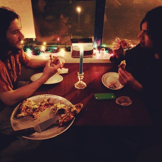 #regram  Candlelight Pizza at 3AM courtesy of @sheehan_bryan and thanks for sharing the truth with us.