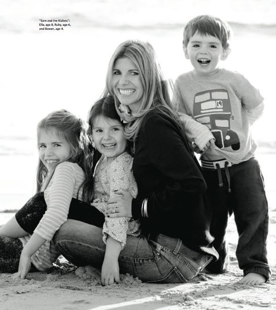 Samantha Ettus with her children