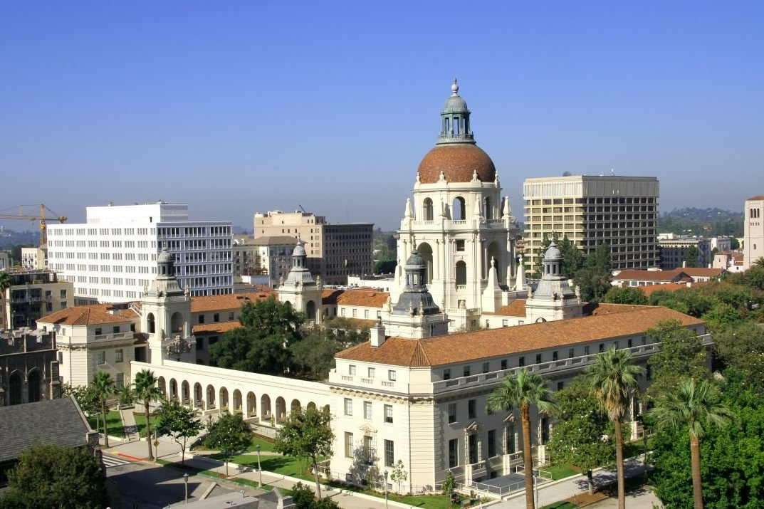Pasadena City Hall at the center of Pasadena Civic Center