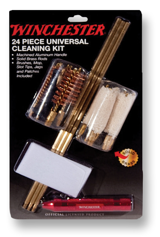 WINCHESTER Universal 30 Piece Gun Cleaning Kit in Wood Case