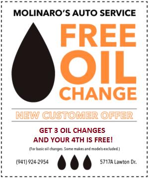 Oil Change Coupon Mechanic Molinaro Auto Service 2