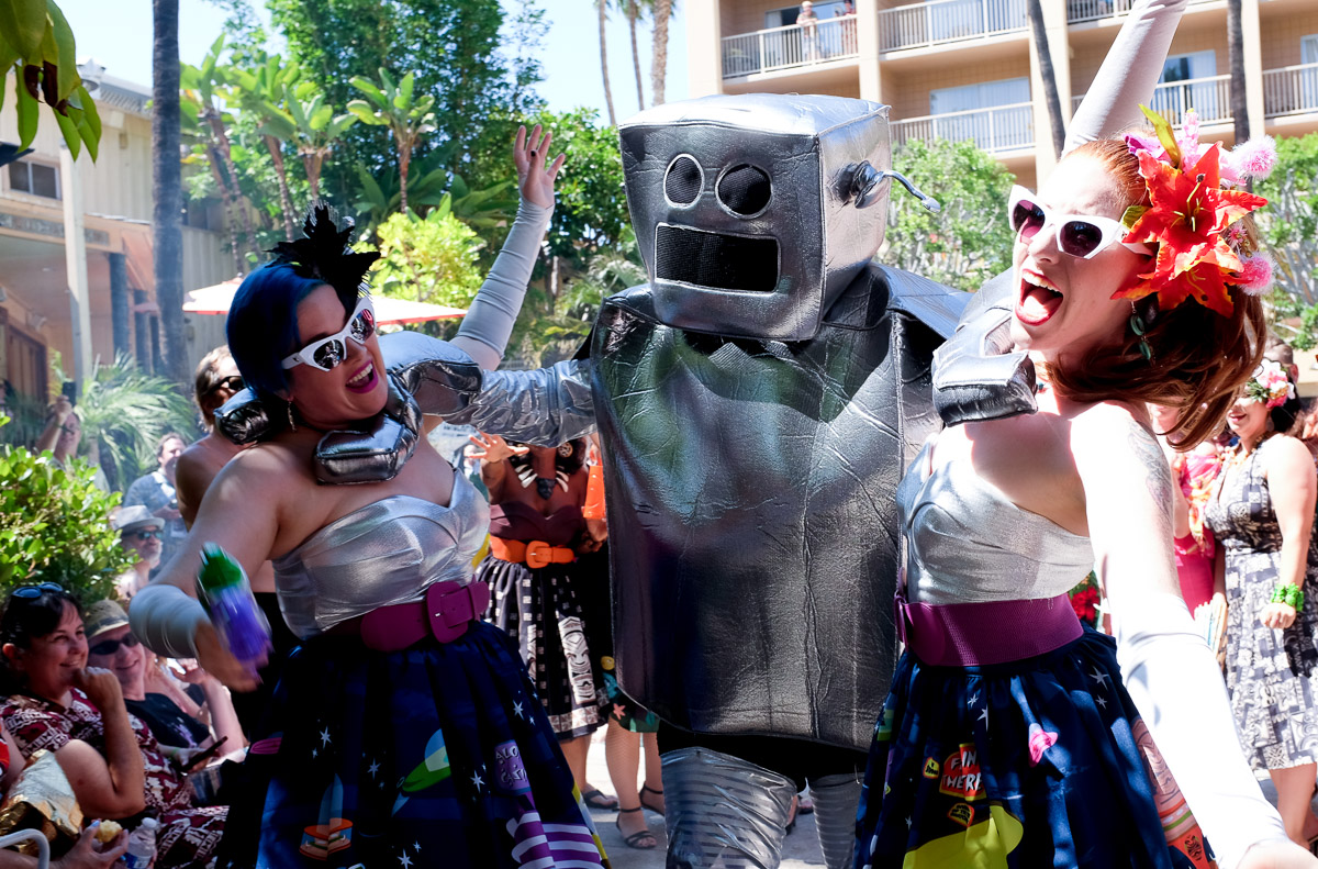 Until the dance party was terminated by a giant robot