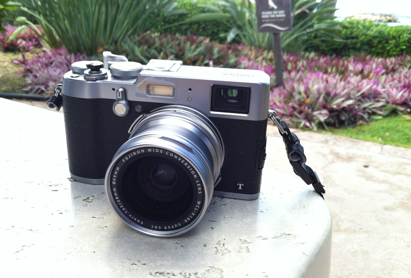 My Fuji X100T with the WCL-X100 Wide Conversion Lens mounted