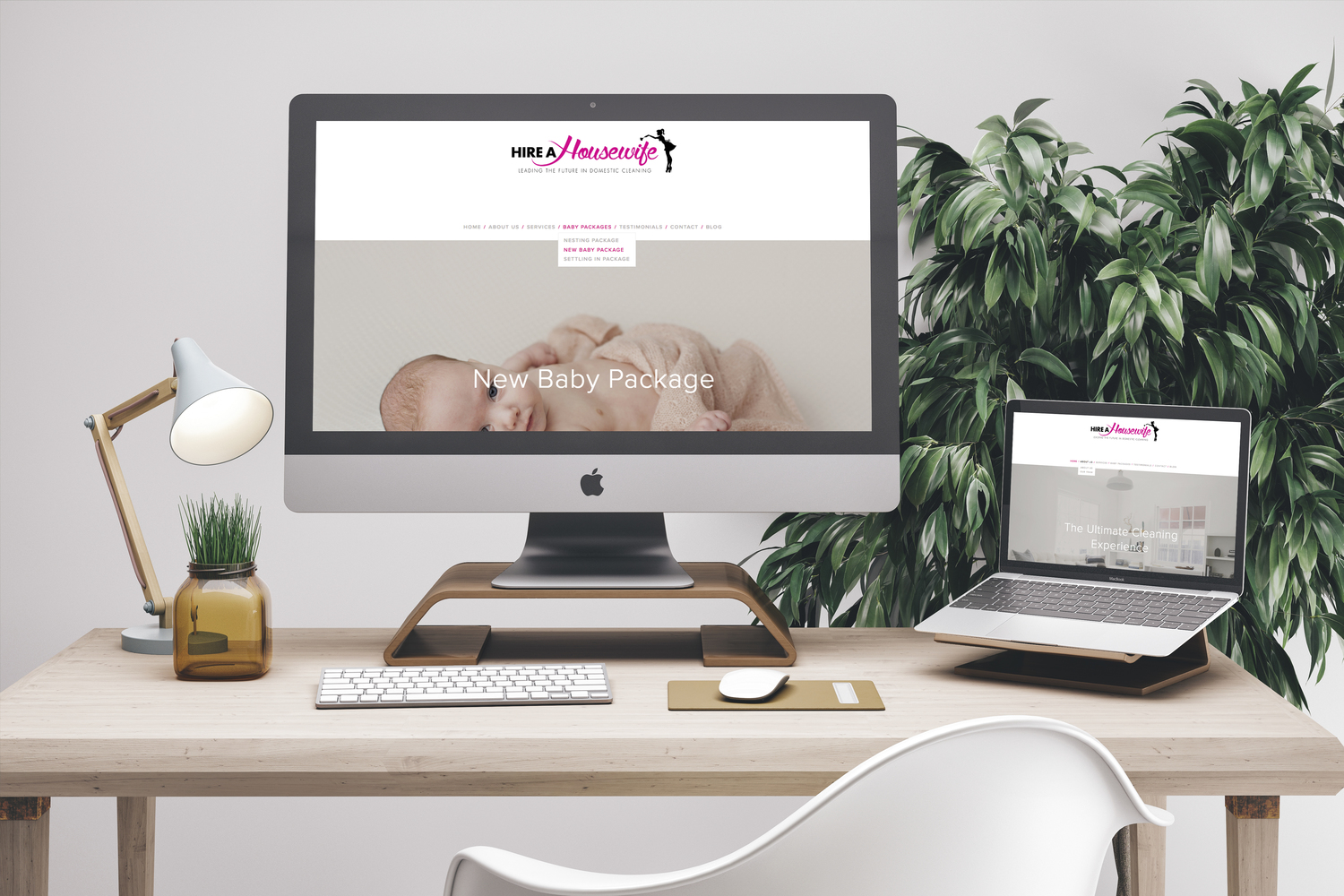 Website Design for Hire A Housewife