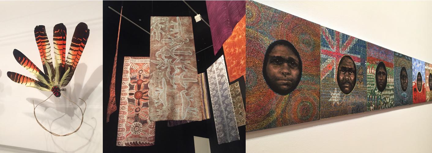 Lisa Michl Ko-manggen's headdress // Central Desert batik printed textiles // Julie Downing's Federation Series