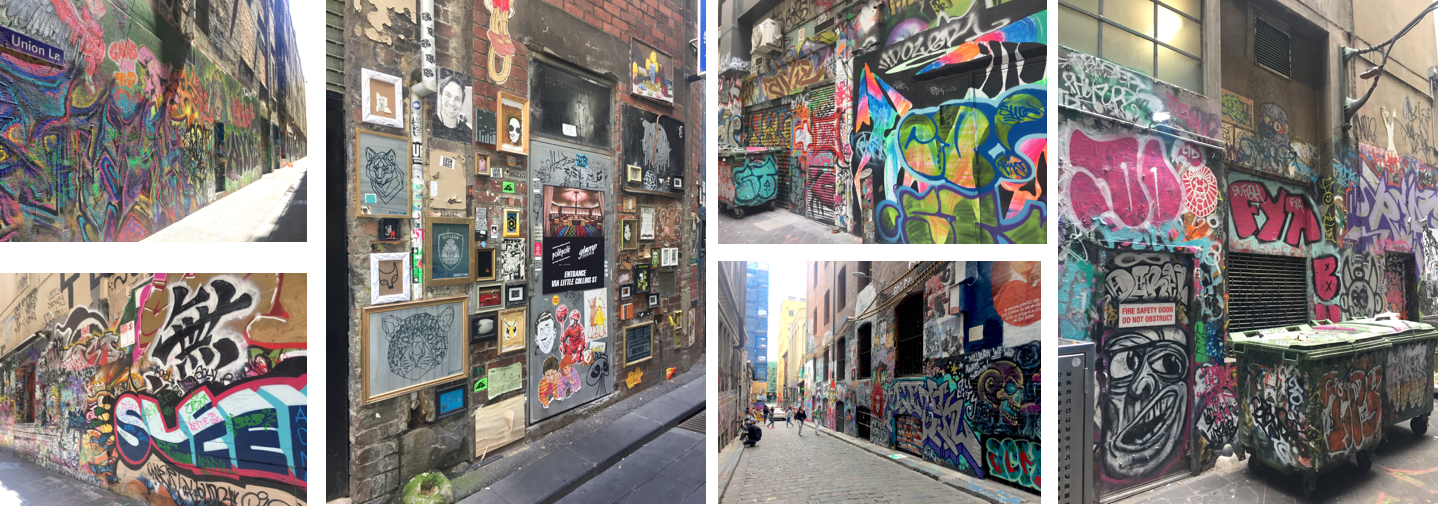 Obligatory graffiti in laneways pics- and, yes, there are a couple on my Insta