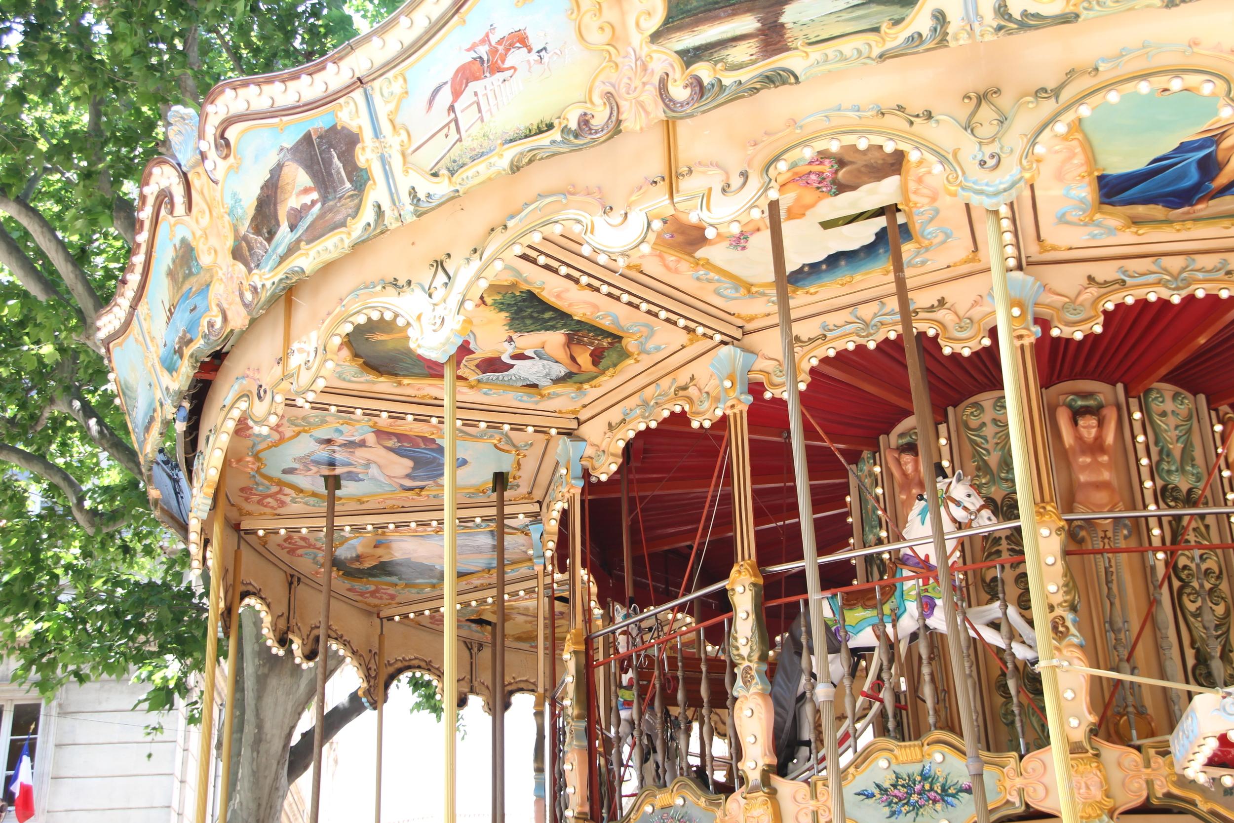 Carrousel detail, Place de l'Horloge, Avignon.