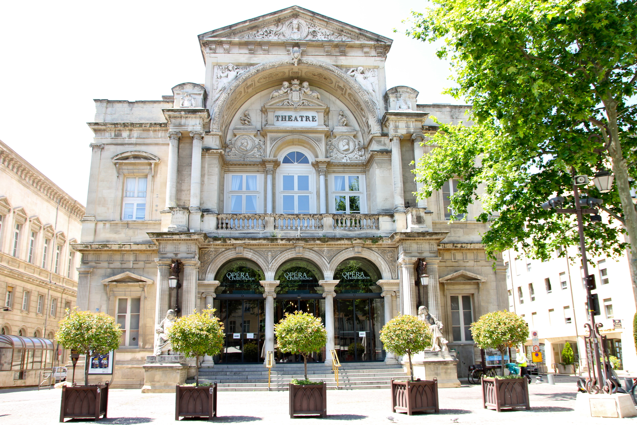 Theater, Place de l'Horloge, Avignon.