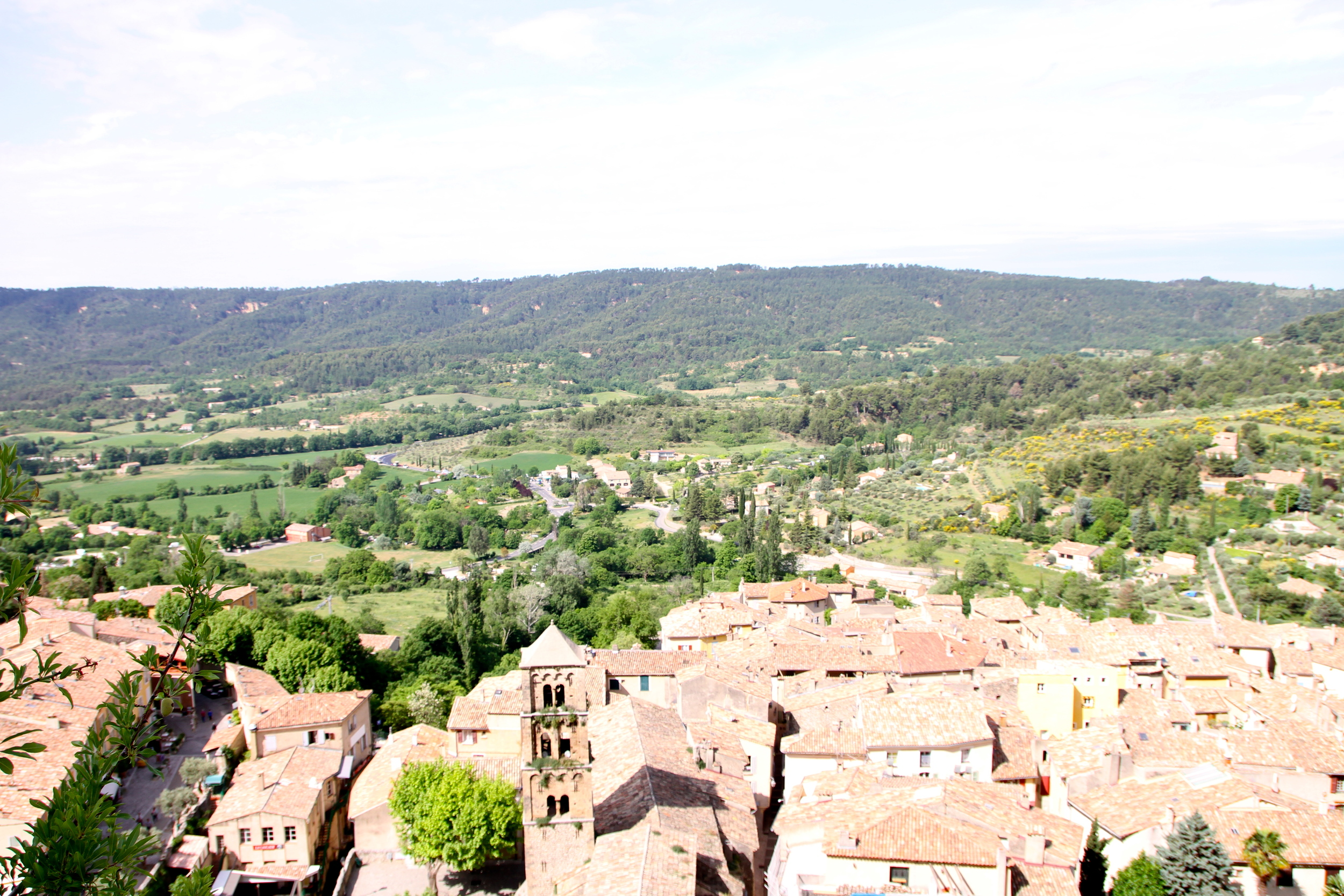 View over Moustiers-Sainte-Marie.
