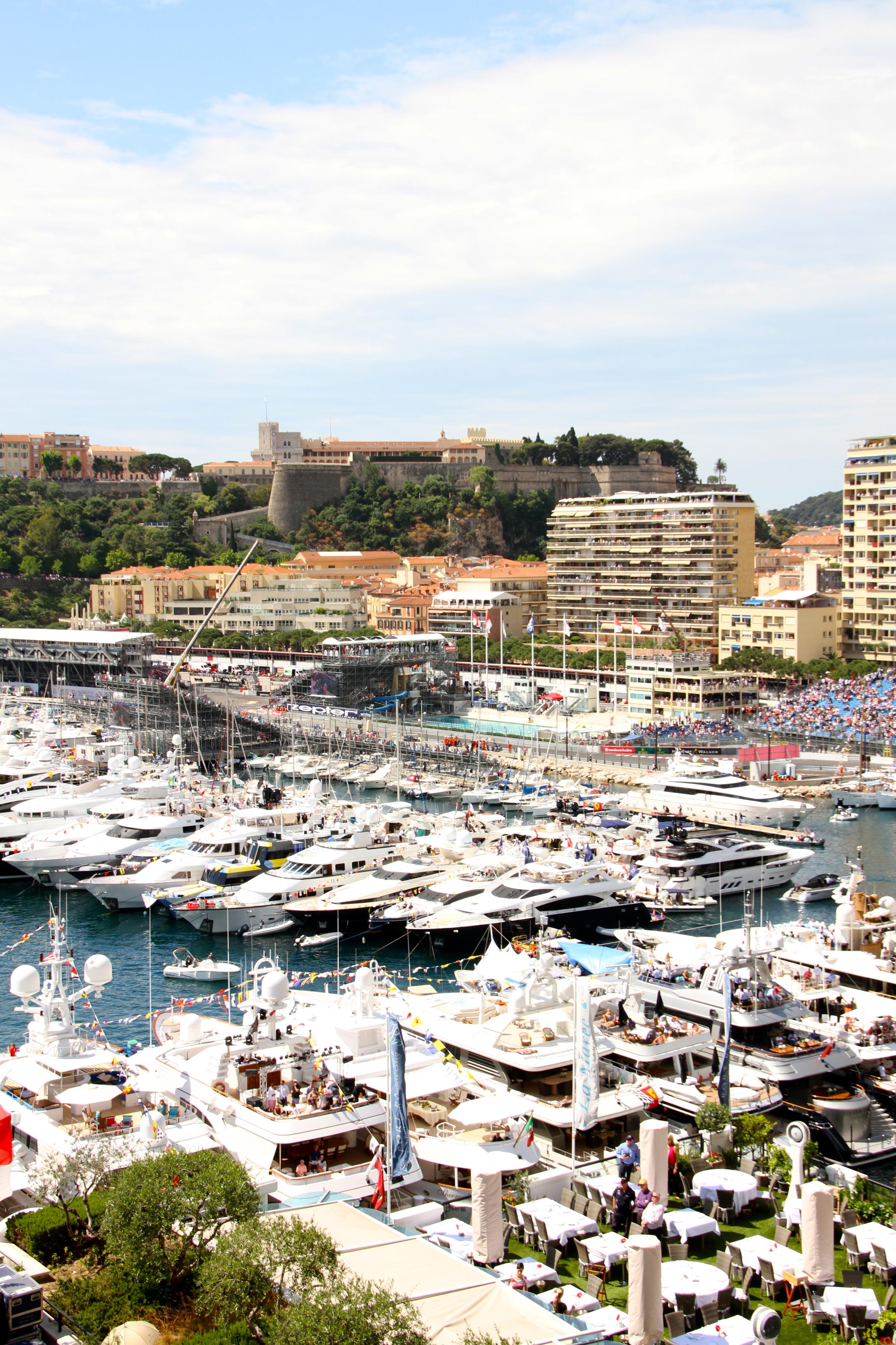 Super Yachts in Monaco Harbour