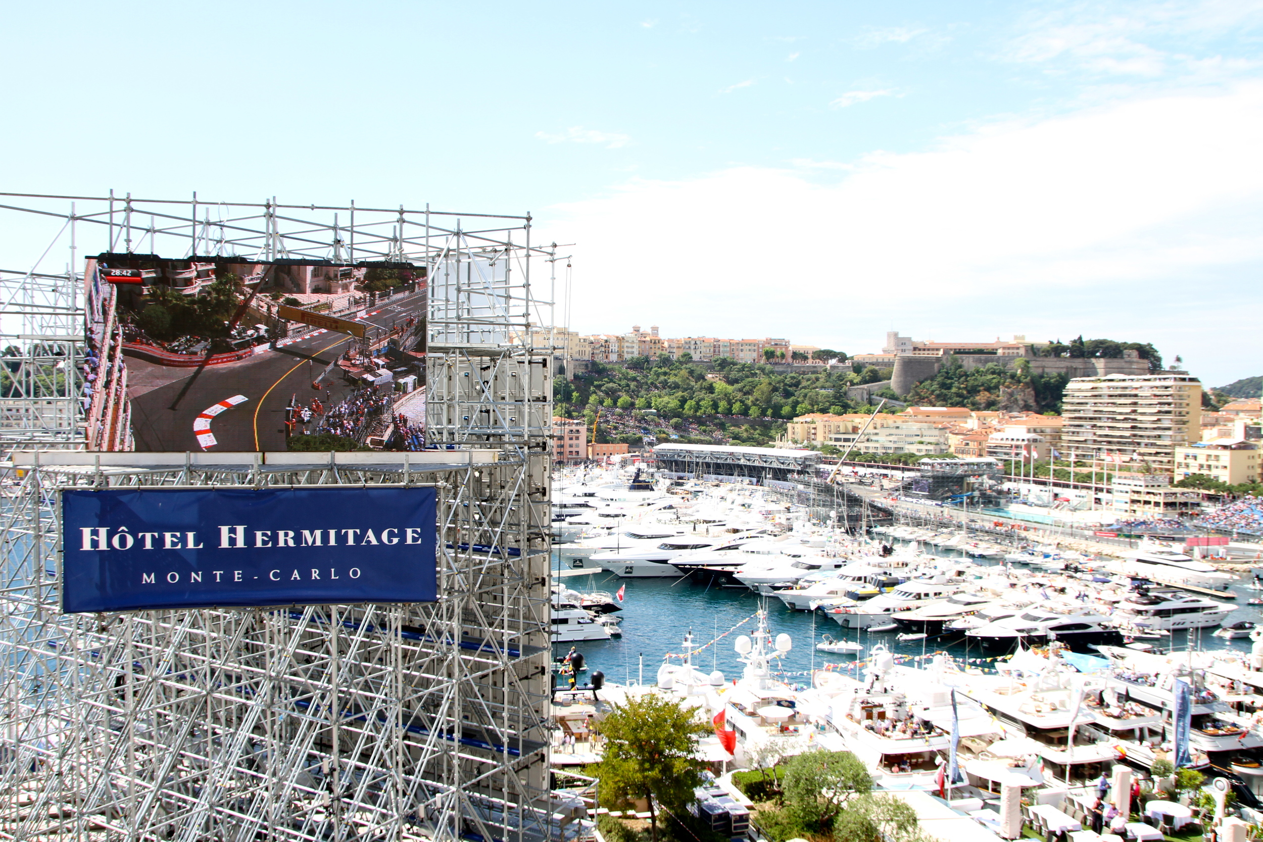 A giant television screen was located directly opposite the terrace, built especially for the Grand Prix, which enhanced our view of the rest of the track.
