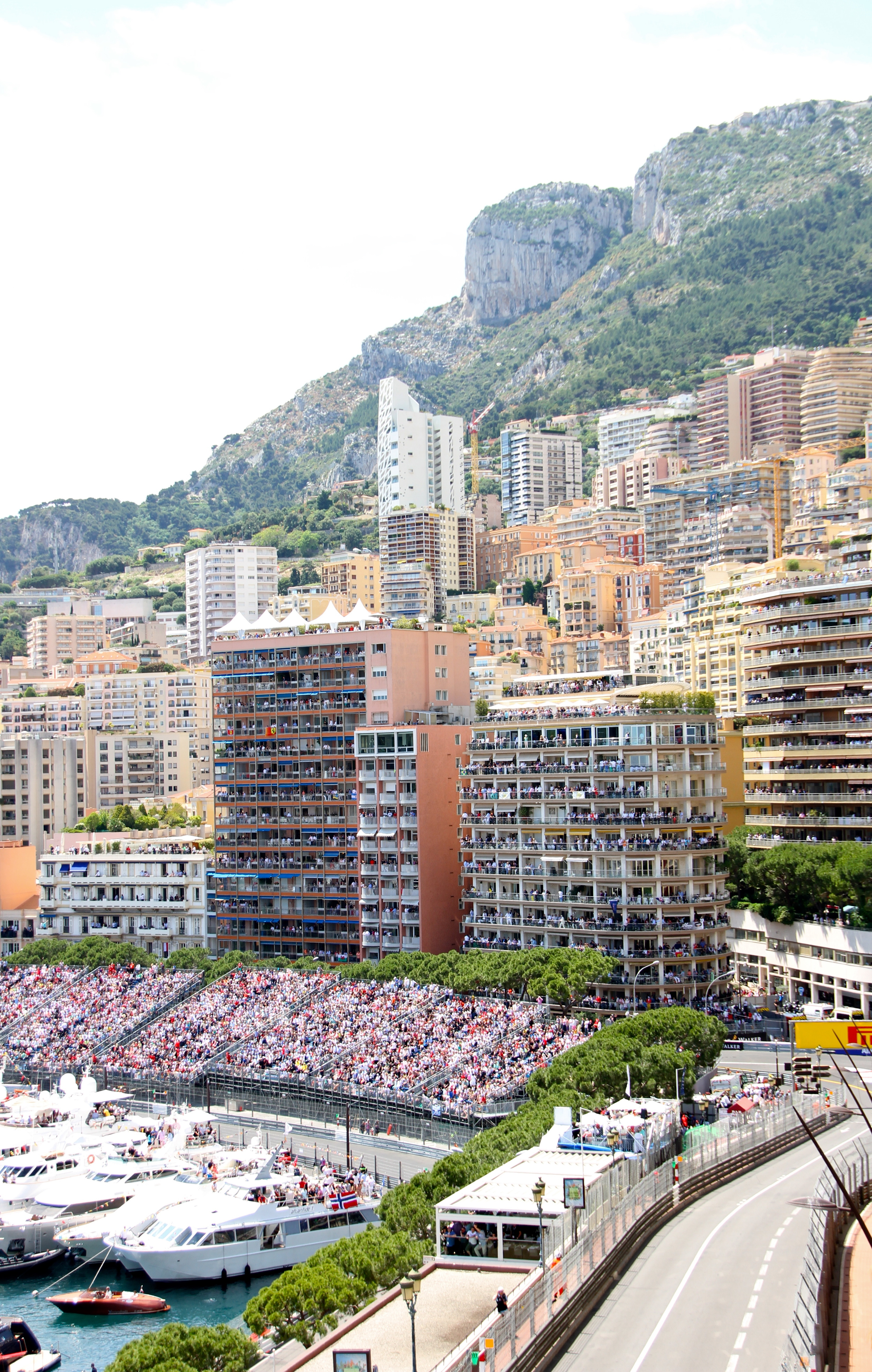 The stands are packed. Ready for the main event, Monaco.