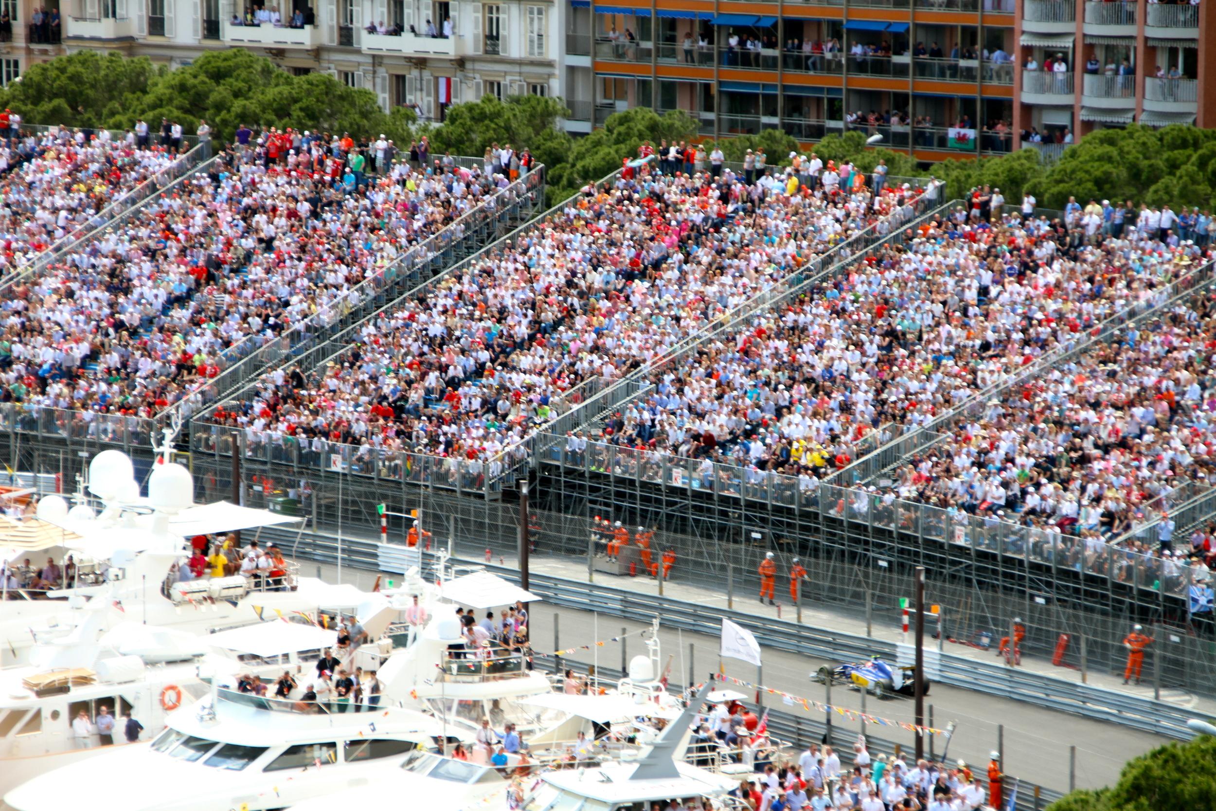 The grand stands, Monaco.