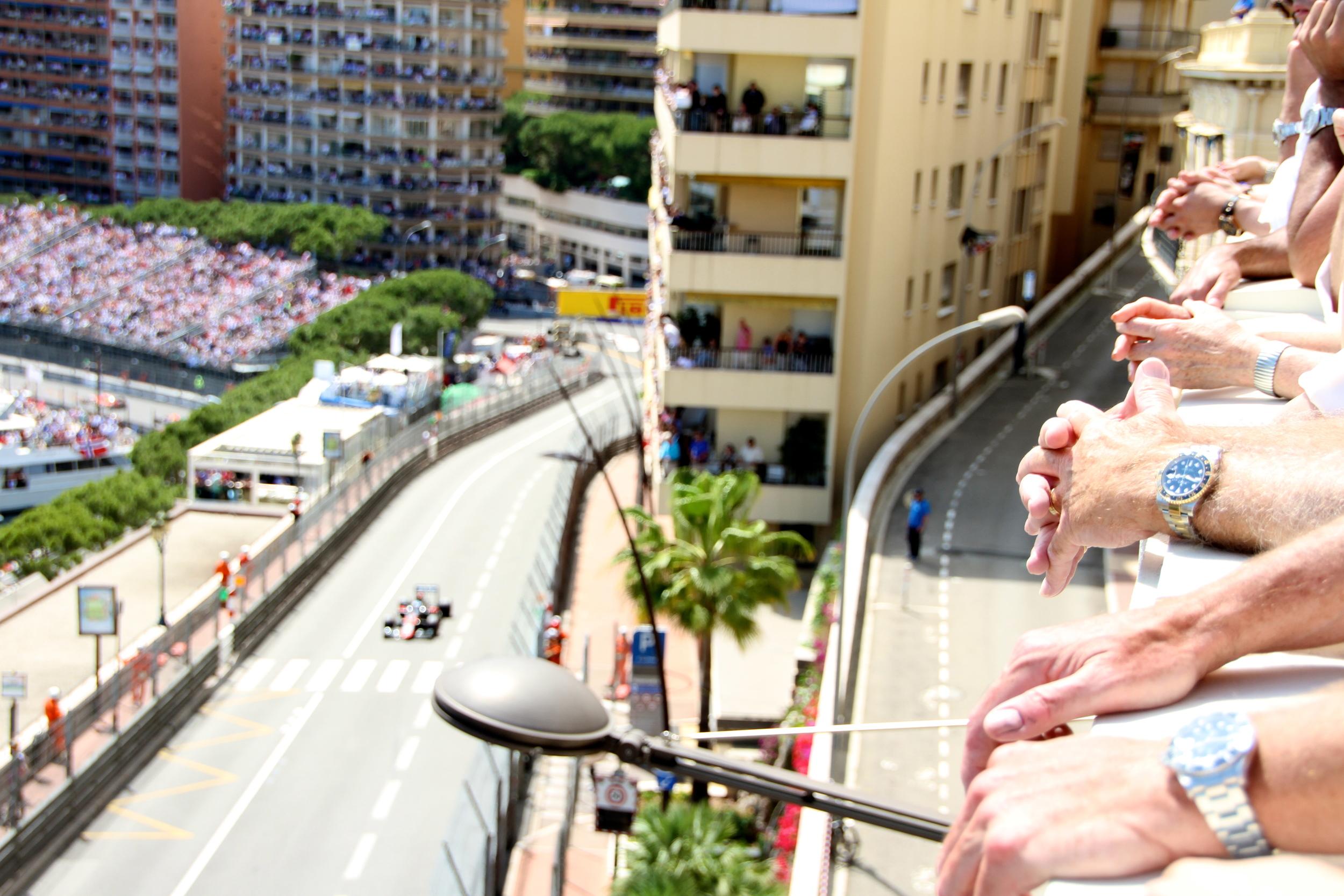Rolex watches on the terrace, Hotel Hermitage, Monaco.