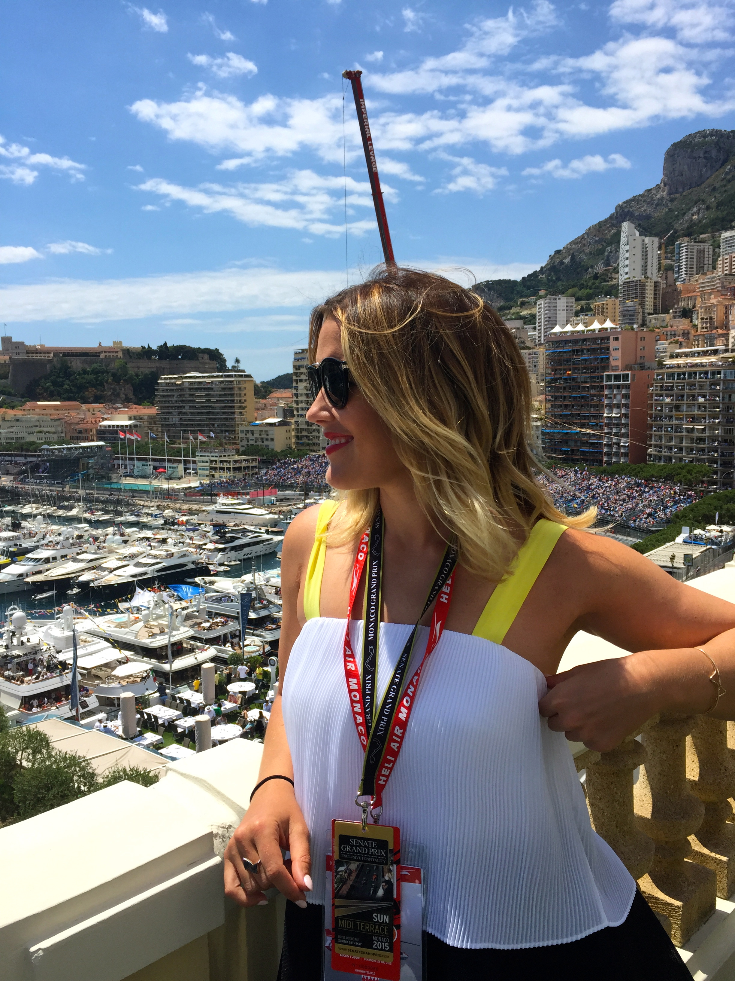 Taking in the view, Midi Terrace, Hotel Hermitage, Monaco.