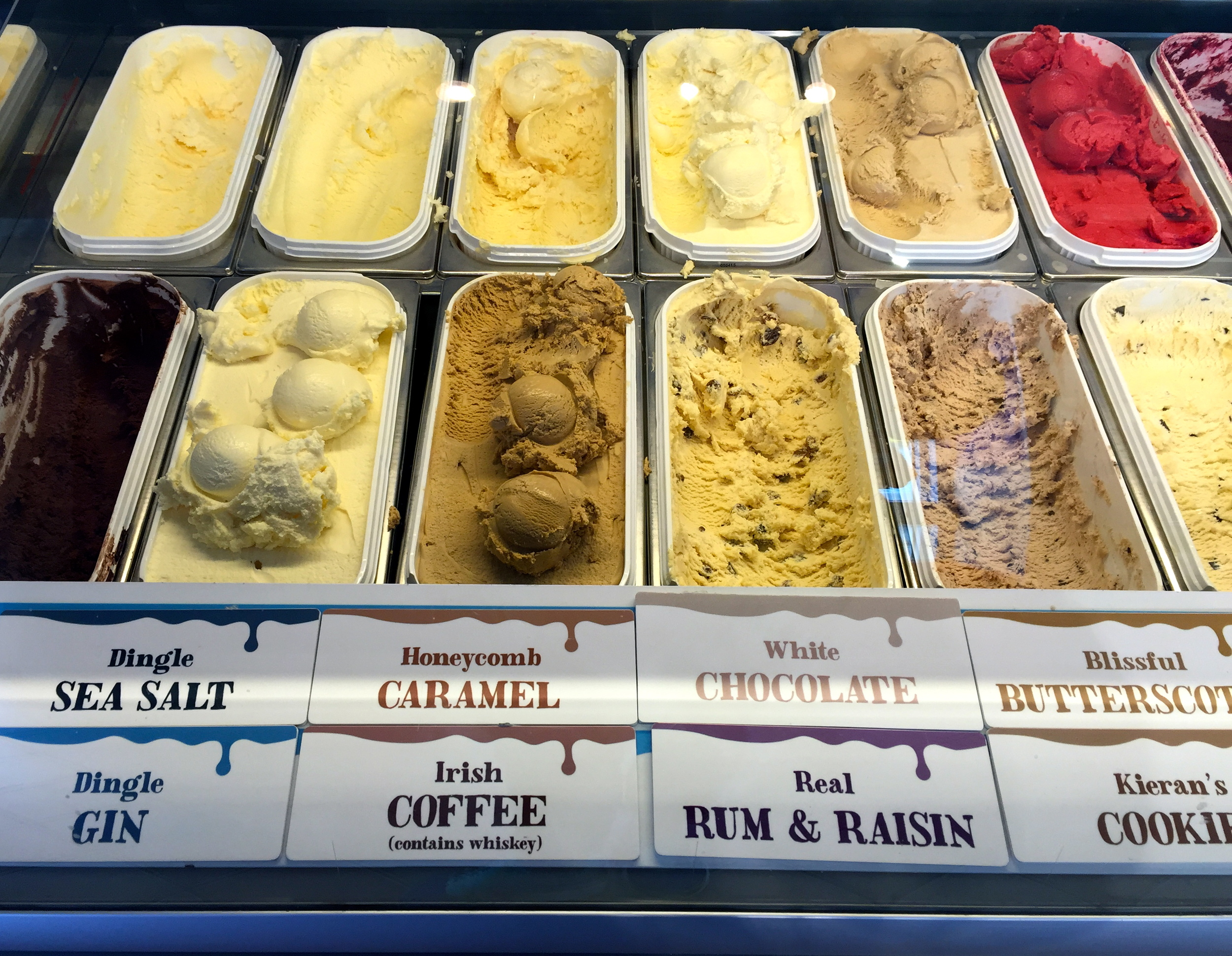 The must try flavour combo: Dingle Sea Salt and Blissful Butterscotch! Murphy's Ice Cream, Dingle, Co. Kerry, Ireland.