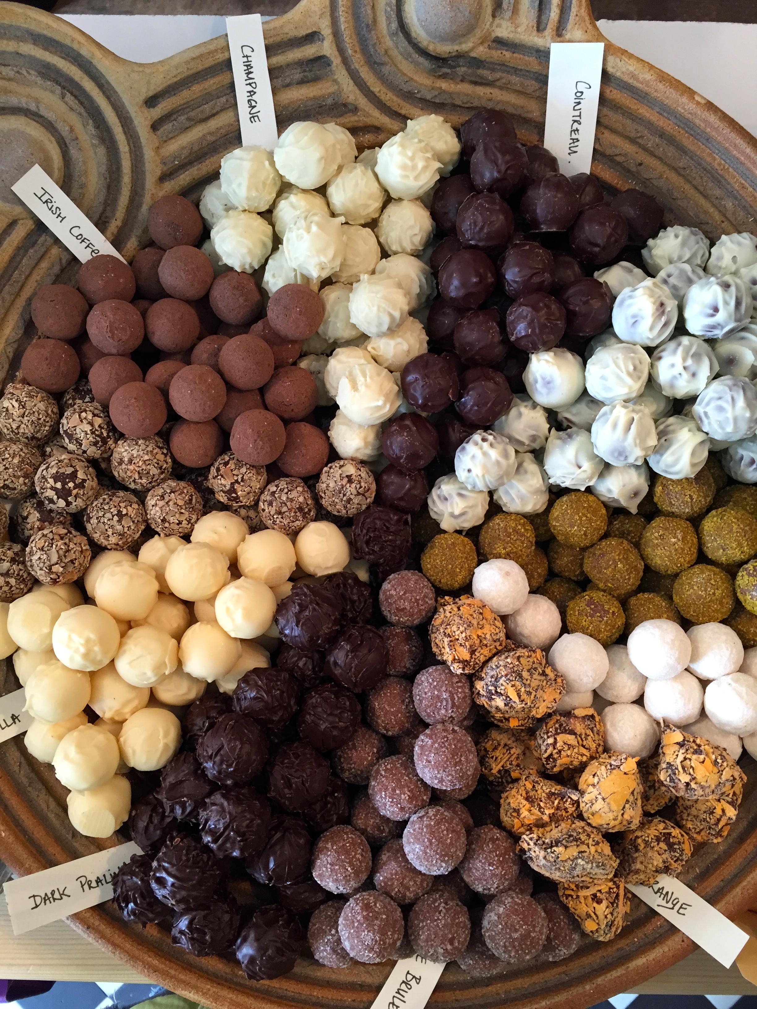 Death by chocolate truffles. Dingle, Co. Kerry, Ireland.