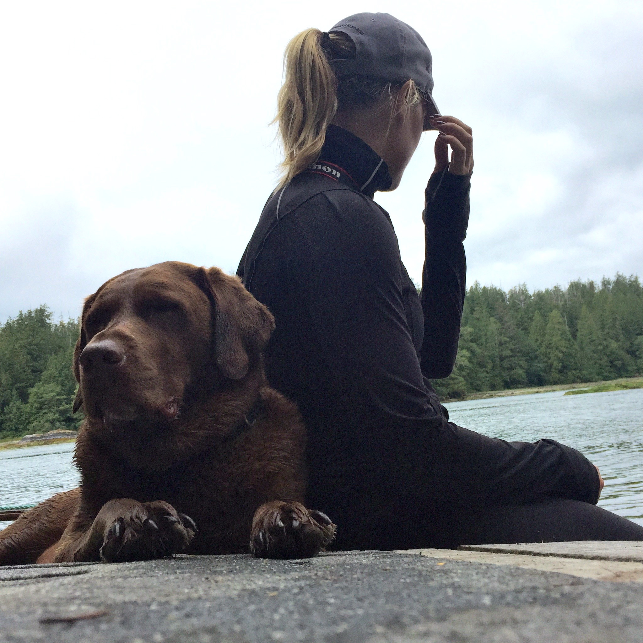 Waiting for the water taxi after our hike on the Big Tree Trail, Meares Island, Tofino, BC, Canada.