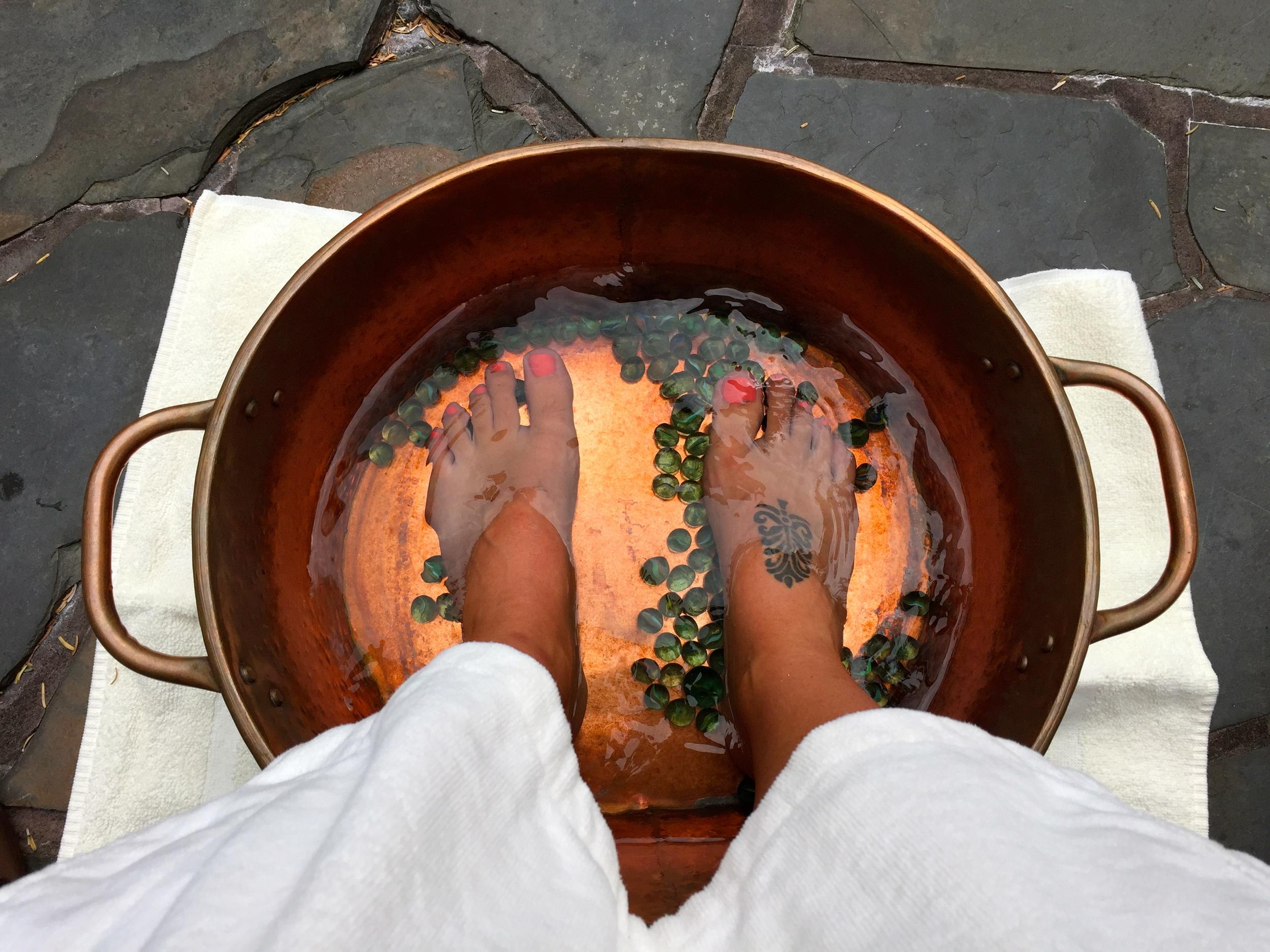 A relaxing start to any treatment. Ancient Cedars Spa, Wickaninnish Inn, Tofino, BC, Canada.