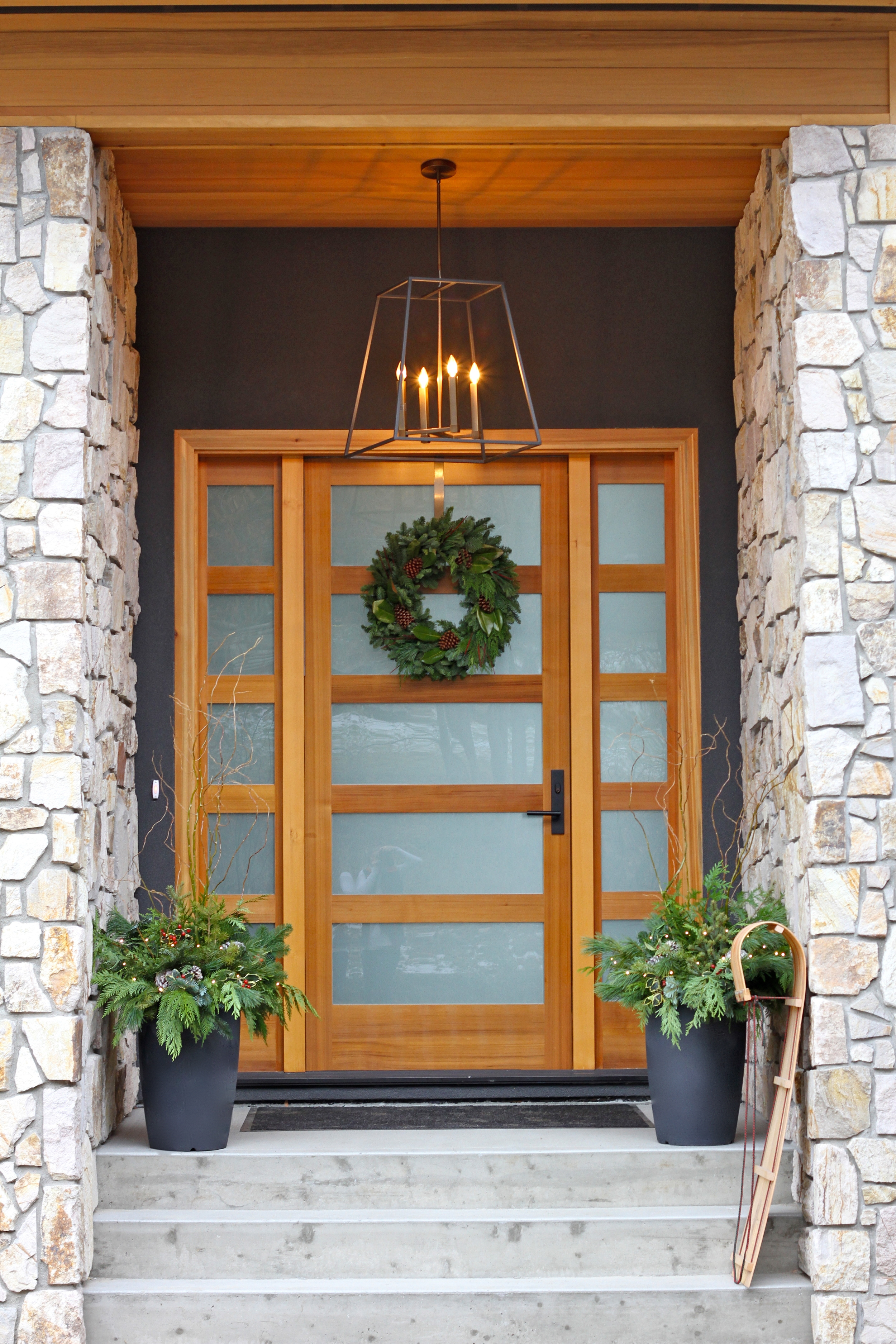 Festive Front Entrance