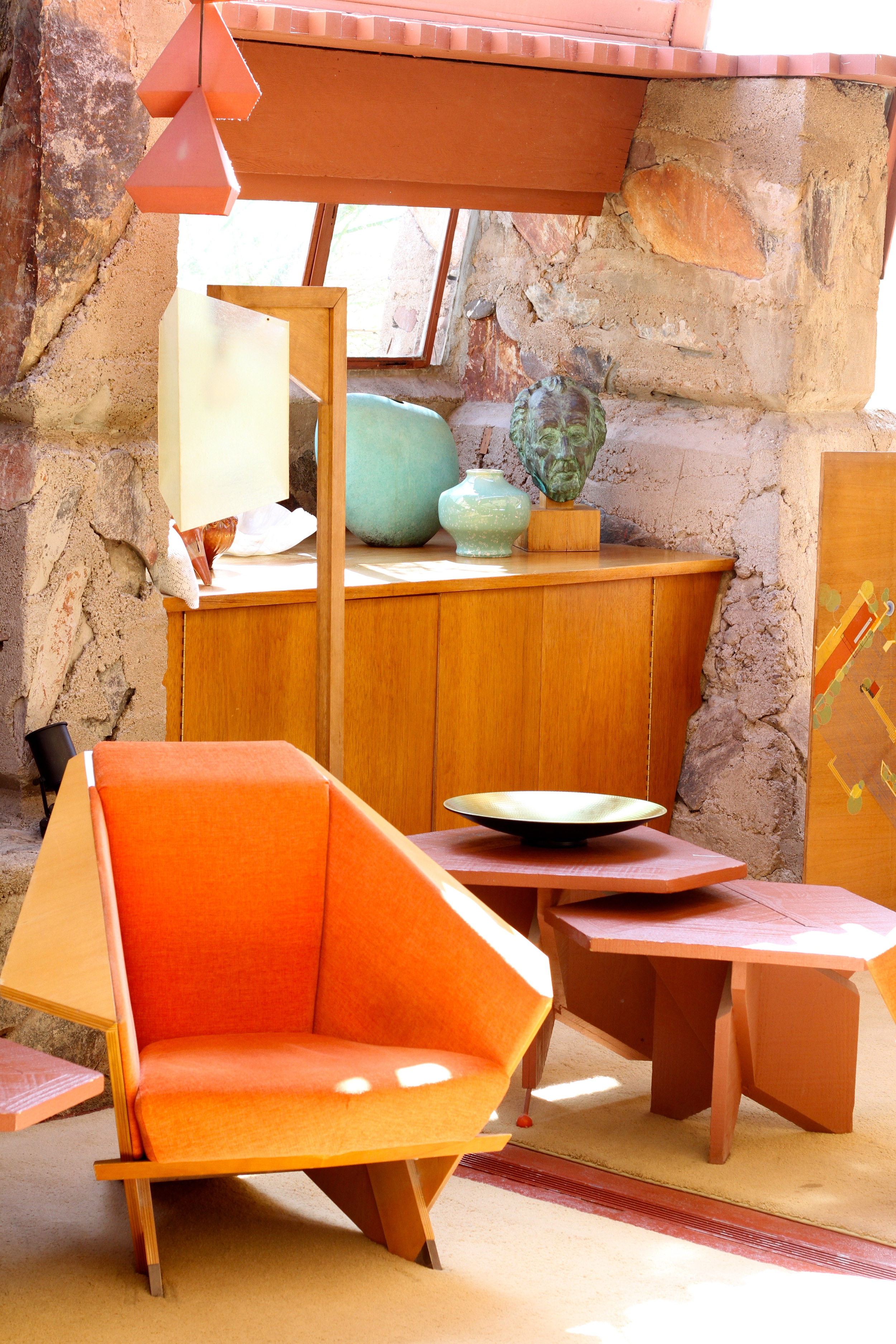 Fun fact: all the furniture at Taliesin West was also designed by Wright.