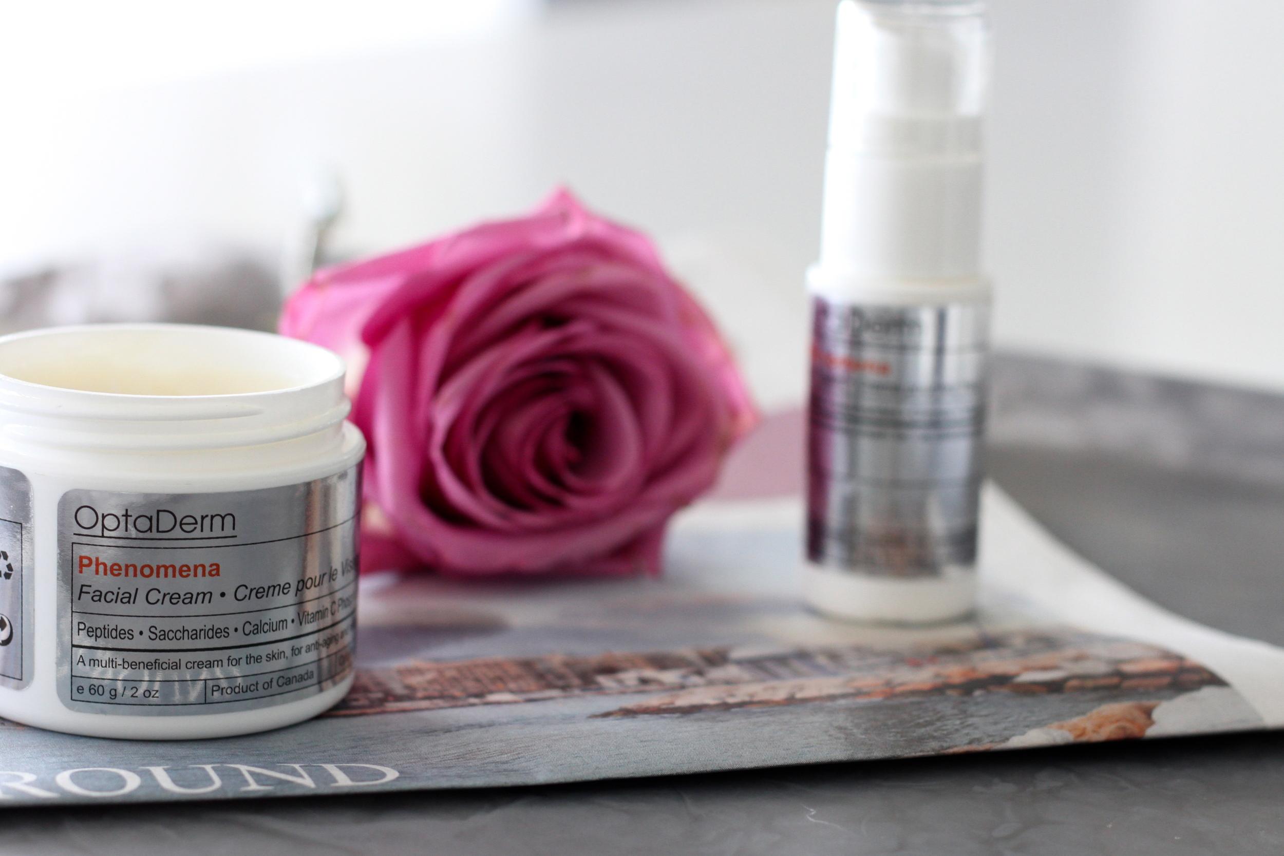 Optaderm Skincare Phenomena Facial Cream.