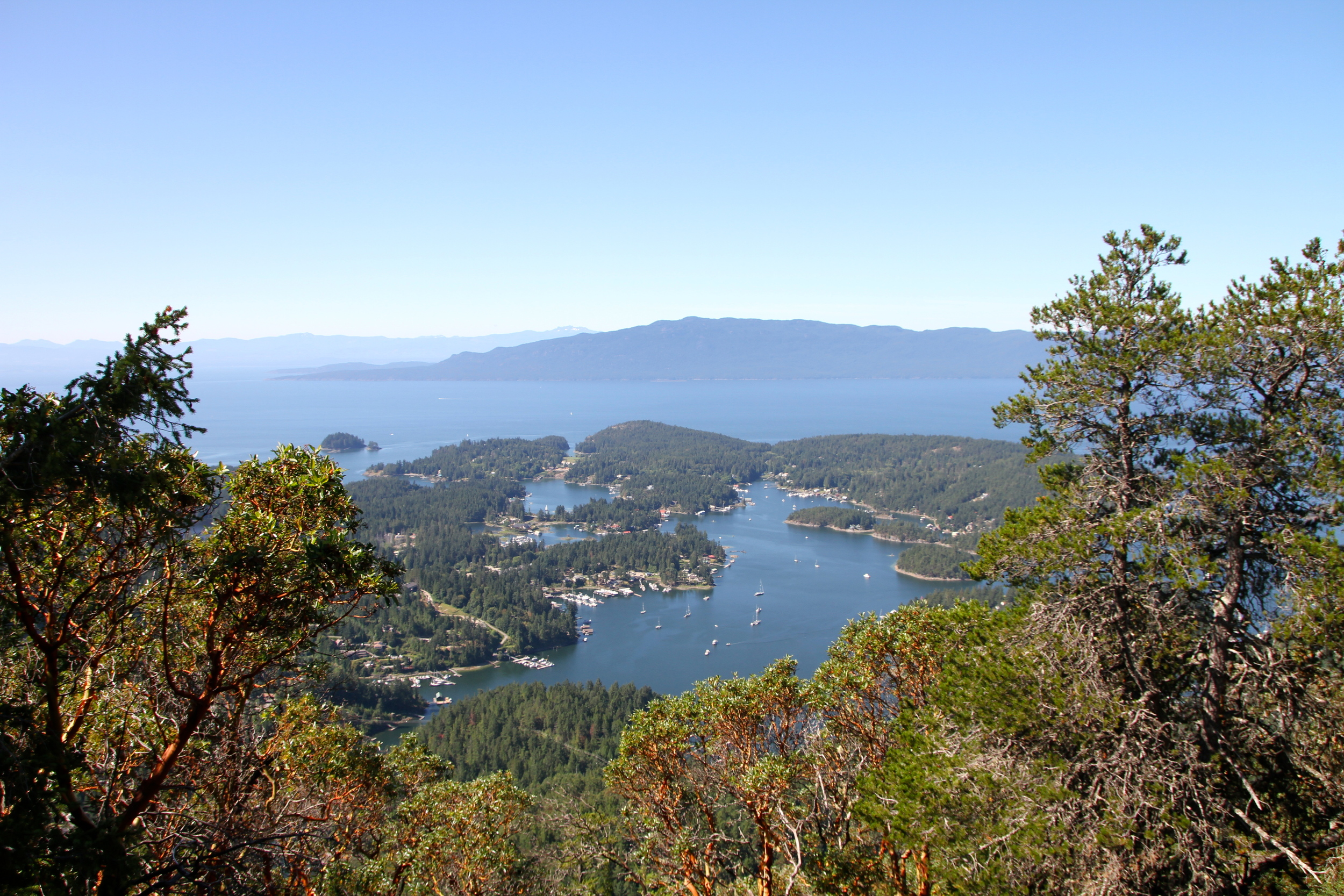 View from the top of Mount Daniel, Sunshine Coast, BC, Canada.