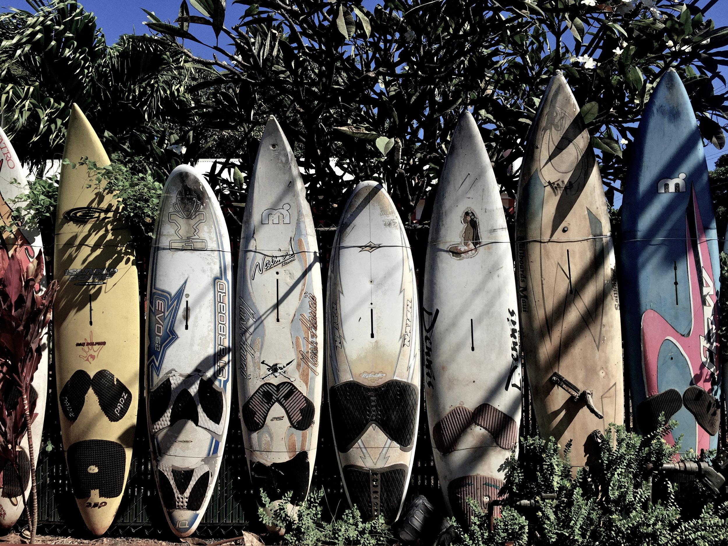 Surfboards, Paia, Maui, Hawaii