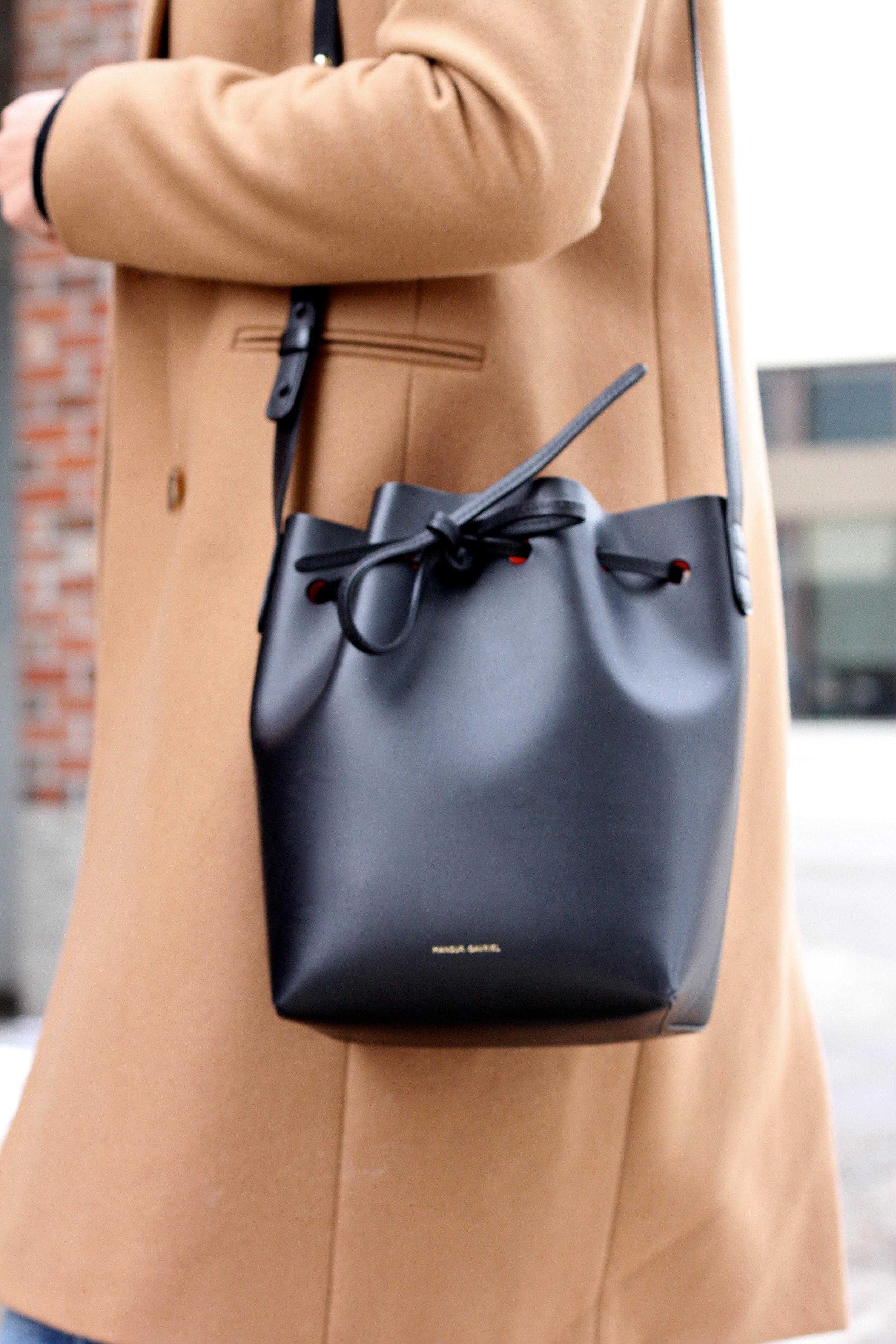 Mansur Gavriel Mini Bucket Bag.