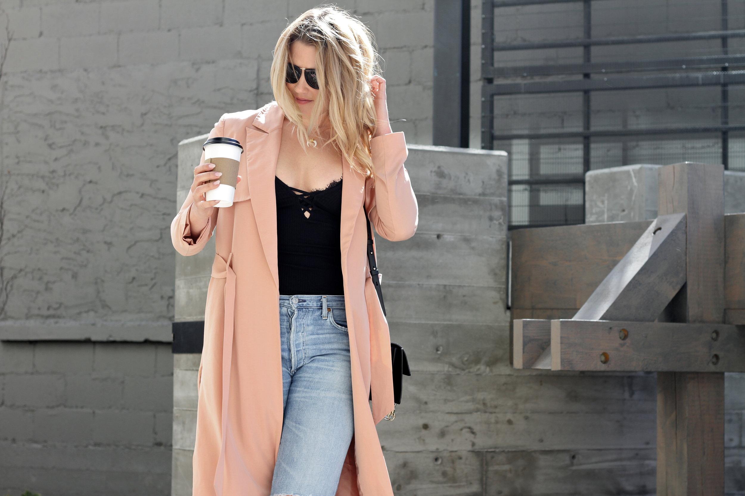 Blush Pink Trench